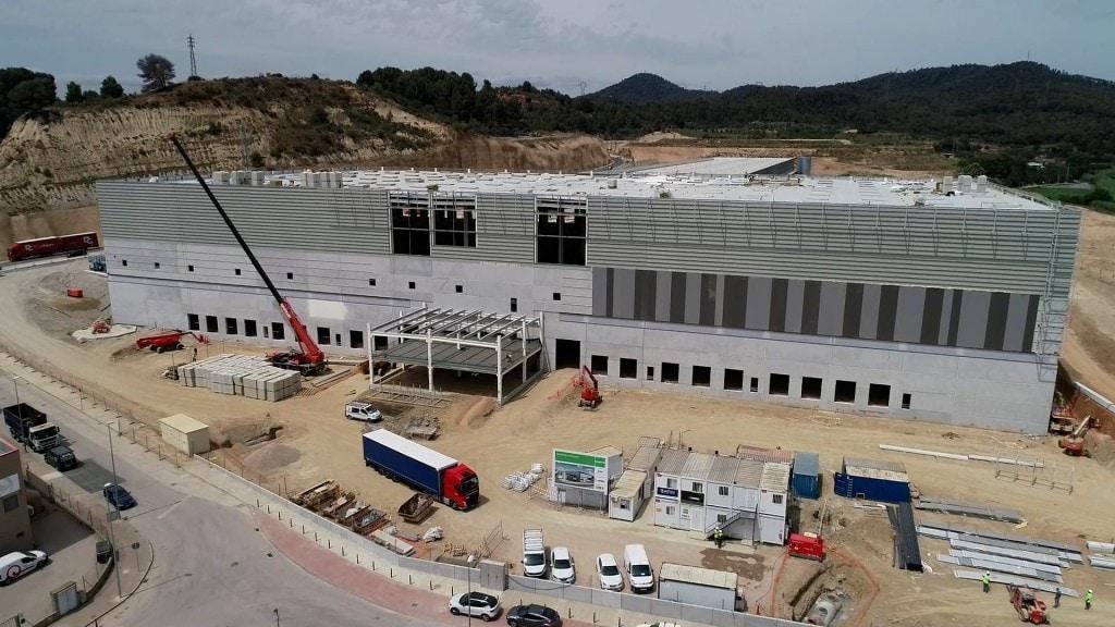 Foto de las obras en el centro logístico de DSV en Molins de rei (Barcelona)