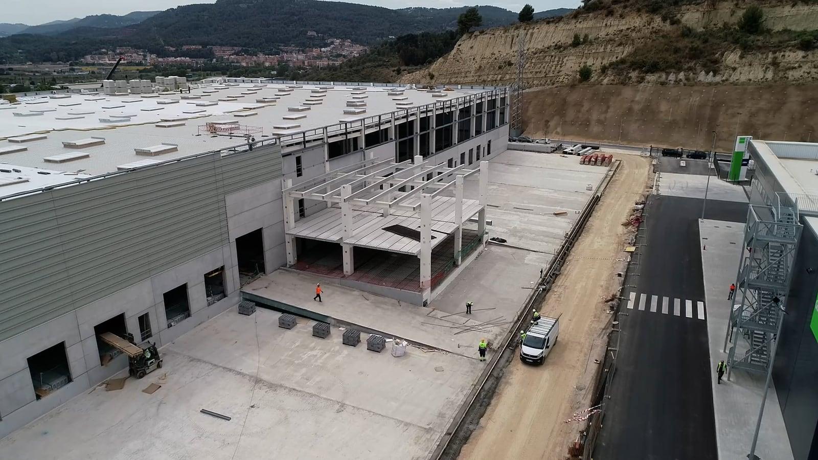 Imagen de las obras de la nave de DSV Solutions Spain en Molins de Rei